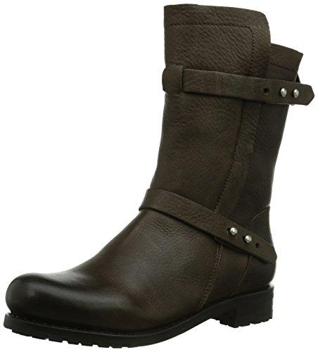 Blackstone Strap Boot Fur Gull, Bottes de motard de hauteur moyenne, doublure chaude femme Gris - Grau (Gull)