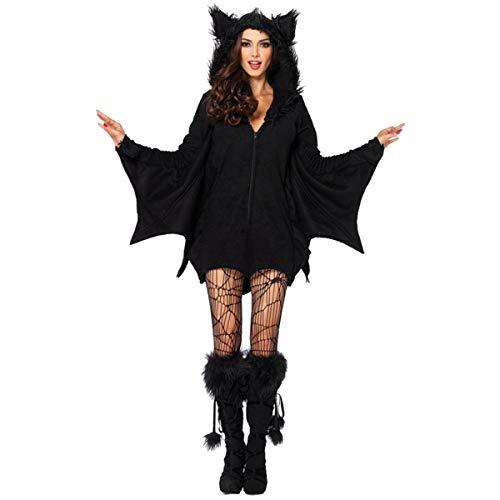 Teen Kostüm Anzug - Dawwoti Frauen-Abendkleid für Halloween Spuk Shocking Bat-Anzug Kostüme für Teens für Cosplay
