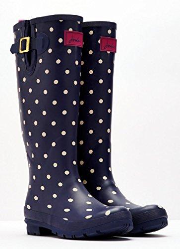 JoulesWelly Print Navy Spot - Wellingtons da lavoro donna Blu (Navy Spot)