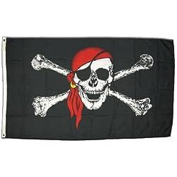 Bandera pirata con pañuelo impermeable, 150x 250cm.