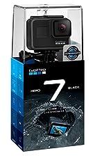 Idea Regalo - GoPro hero7 - Action Camera 4K con Hypersmooth, Stabilizzazione video e Live streaming - Nero