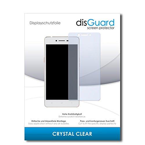 disGuard® Bildschirmschutzfolie [Crystal Clear] kompatibel mit Oppo R7 Lite [4 Stück] Kristallklar, Transparent, Unsichtbar, Extrem Kratzfest, Anti-Fingerabdruck - Panzerglas Folie, Schutzfolie