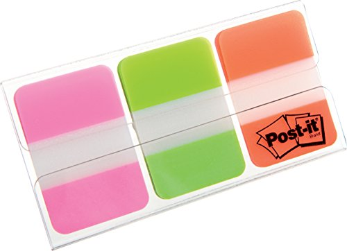post-it-index-tabs-assorted-pink-green-and-orange