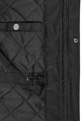 SOLID Bello Long Herren Winterjacke Lang Parka mit Kapuze aus hochwertigem Material Black (9000)