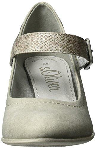 s.Oliver - 24405, Scarpe col tacco Donna Grigio (LT GREY COMB 295)
