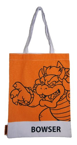 Nintendo Super Mario Bowser 2D-Retro-Shopper (Satchel Daisy)