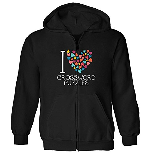 Idakoos I love Crossword Puzzles colorful hearts - Ocio - Sudadera con cremallera