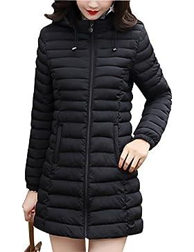 Mujer Abrigo De Invierno Chaqueta Peso Ligero Mantener Caliente Outerwear
