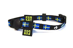 Katzenhalsband und Hundehalsband FanCat/FanDog - Design Schweden - Grösse S