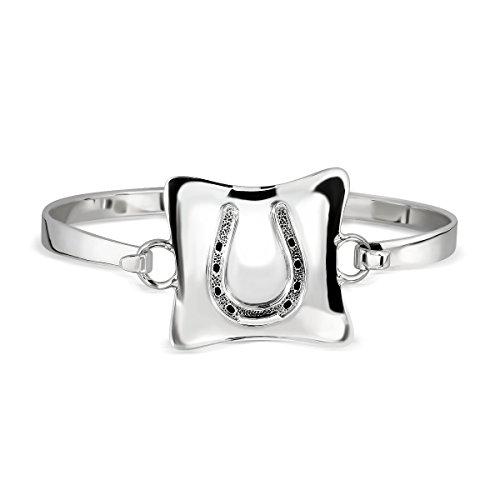 sistakno Sterling Silber 925Hufeisen Armreif (Pony Trense Bit)