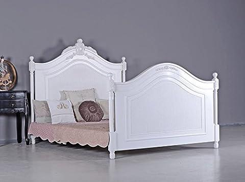 Französisches Ehebett Antik Doppelbett Vintage Bett Shabby Chic Palazzo Exclusiv (Französisch Stil Bett)