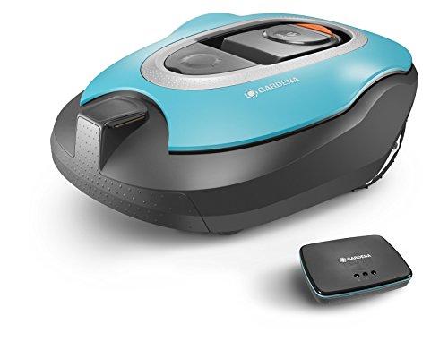 GARDENA smart SILENO Set: Mähroboter mit Vernetzung für Rasenflächen bis 1000 qm, steuerbar per SmartPhone und App, Steigungen bis zu 35%, geräuscharm mit 60 dB(A), inkl. smart Gateway (19060-60)