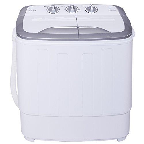 Mini Single 3,6KG Waschmaschine mit 2KG Schleuder Toplader Waschautomat A+