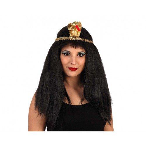 Hair Wig Egyptian Lady (Black-emo-perücke Erwachsene Für)