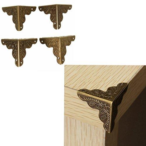 [Free Shipping] 10Pcs Antique Box Corner Wooden Case Corner Brackets Protector Guard Carved // 10pcs antigua esquina cuadro de guardia protector de caja de madera tallada soportes de esquina by Bml -