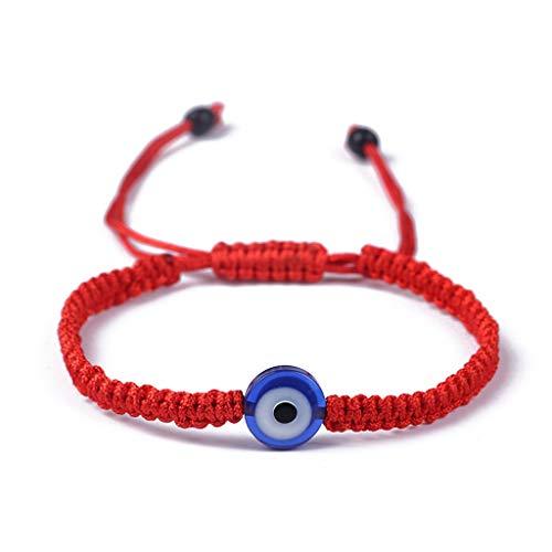 SimpleLife Lucky-Armbänder, rote Kette für böses Auge Hamsa Handkreuz, gut für Reichtum und Liebe -