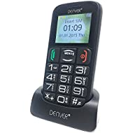 Denver GSP-110 Big Button Mobile Phone For Elderly - Unlocked Senior Mobile Phone, SOS Mobile Phone, Senior Mobile Phone with Talking Numbers, Bluetooth, and Torch