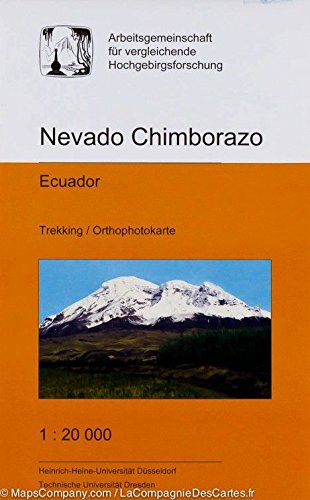 Nevado Chimborazo: Ecudor; Trekking; orthophotokarte; Cordillera de los Andes