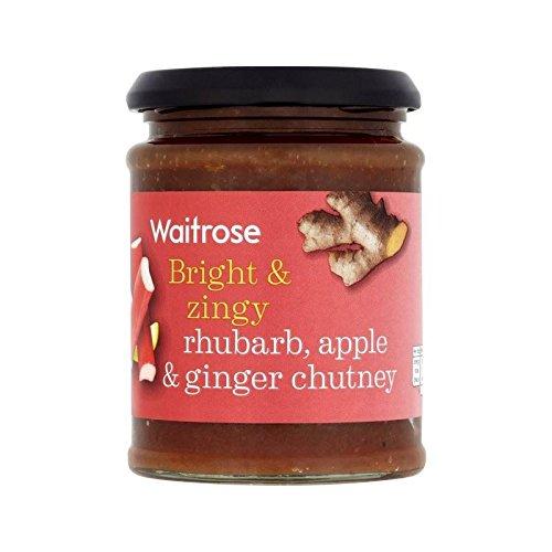 Rhubarbe, Pomme Et Gingembre Chutney Waitrose 320G - Paquet de 6
