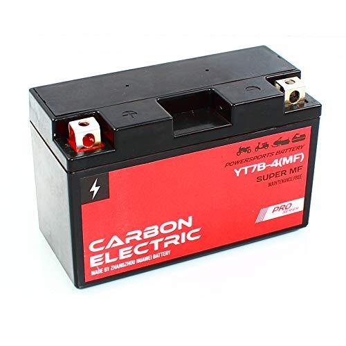 BATTERIA GEL YT7B-4 12V 6Ah CARBON ELECTRIC SCOOTER POTENZA SIGILLATA MANUTENZA BATTERIA MOTO