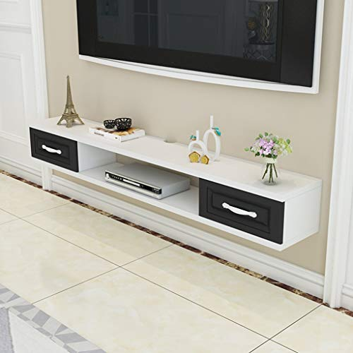 Regal Wand-TV-Schrank Moderne schwimmende TV-Ständer Konsole Möbel TV-Halterungen TV-Board Rack Media Console Entertainment Center for Blu-Ray-Player Videospielkonsolen Kabelboxen Lautsprecher (Blu-ray-media-player)