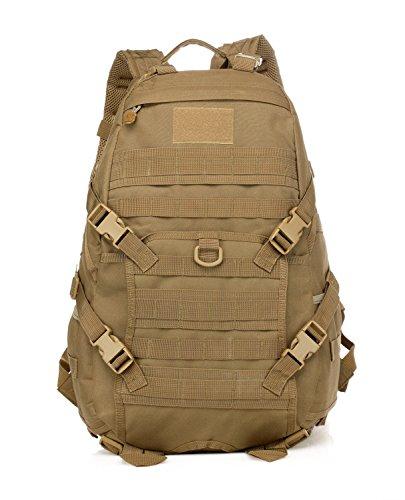 35L zaino tattico militare Zaino Trekking Zaino Molle Daypack per escursioni all' aria aperta campeggio viaggio, marrone
