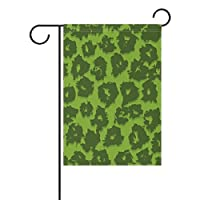 Eslifey Green Leopard Pattern Double Sided Family Flag Polyester Outdoor Flag Home Party Decro Garden Flag 28x40 in