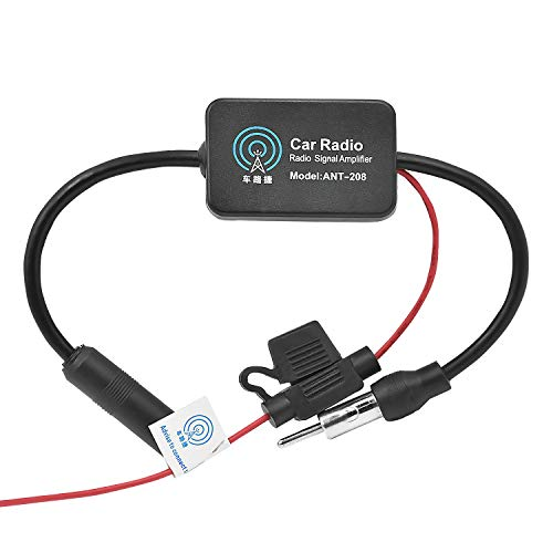 WEKON Auto Antennenverstärker AM/FM Auto Radio Antenne Signal Verstärker Verstärkung Audio Stereo Antenne Signal Verstärker für Fahrzeug KFZ Autoradio