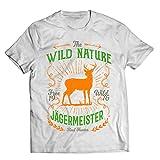 1 Stück T-Shirt Vintage Jägermeister Geschenk JAG Geschenk Geburtstag Weiss (L)