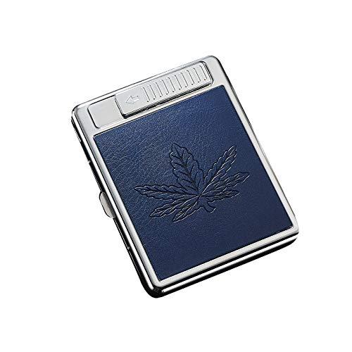 Zigarettenetui - Zigarettenanzünder 1 Zigarettenschachtel - Lade 20 Sticks Edelstahl Zigarettenetui - Kreativ Senden Freund Zigarettenschachtel,D,108 * 82 * 18 m