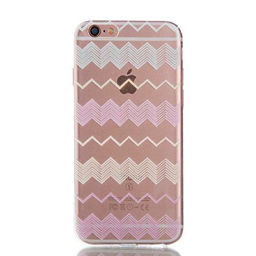 "iPhone 6S Coque,iPhone 6 Bling Case,iPhone 6S Cover - Felfy Ultra Mince Slim Gel TPU Silicone élégant Ultra Thin Bling Plating Case Coque Bumper Cas Housse pour Apple iPhone 6/6S 4.7"" (Losange Violet) Ondulé"