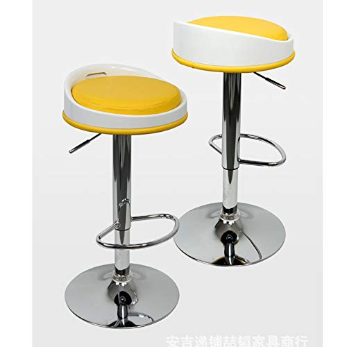 Fashion Modern Barhocker, Set mit Rückenlehne, höhenverstellbar Chromstahl Fußrasten \u0026 Basis, Bar Stühle Frühstück Speisesaal Hocker für Kücheninsel Zähler Barhocker Set 2 Stück-7 -