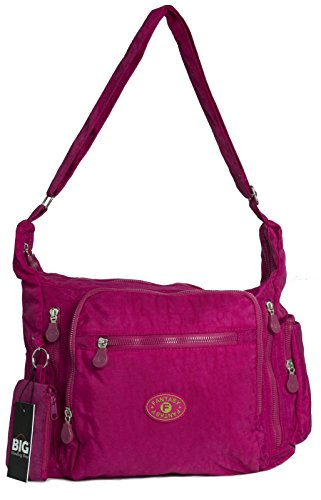 Big Handbag Shop, Borsa a tracolla donna One Hot Pink