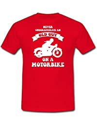 Spreadshirt Old Guy On A Motorbike Men's T-Shirt