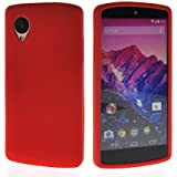 MOONCASE Soft Silicone Skin Back Case Cover For LG Google Nexus 5 Red
