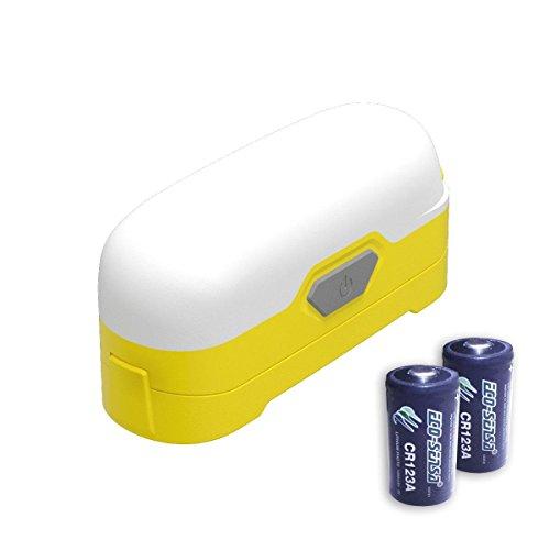 Bundle: Nitecore LR30 Camping Lantern (Yellow) -205 Lumens w/UM10 Charger, NL183 Battery & 2x Eco-Sensa CR123A Batteries -
