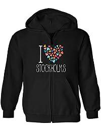 Idakoos I love Stockholms colorful hearts - Hauptstädte - Kapuzenjacke