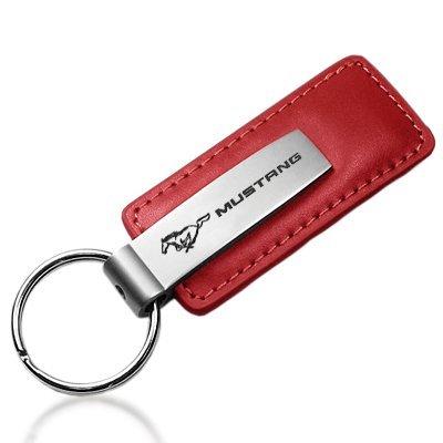 FORD MUSTANG voiture Porte-clés en cuir rouge