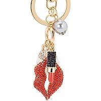 KPHY Originalität Pearl Roten Lippenstift Schlüsselanhänger Exquisite Lippenstift Koffer-Anhänger Gepäck Und Zubehör Zubehör