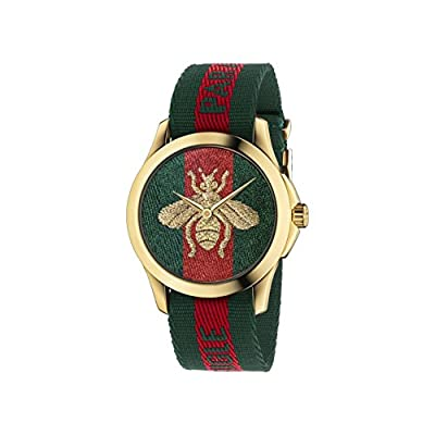 Gucci Unisex Analogue Quartz Watch with Nylon Strap – YA126487
