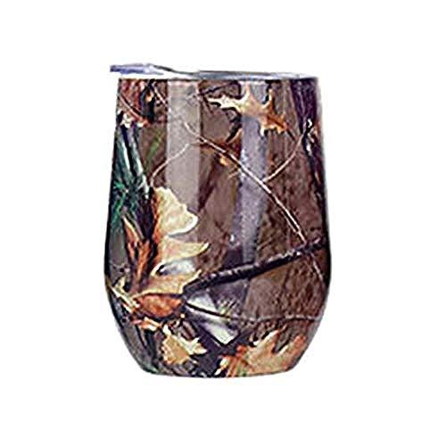 12 Unzen Edelstahl Fantasy Farbe Stemless Tumbler Weinglas mit Deckel Vakuumisolierung Becher für Champagner Bier Getränke @ E@B