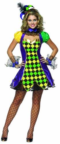 Rasta Imposta 187184 Mardi Gras Jester Woman Kost-m - Purple - Large-X-Large (Female Rasta Kostüm)