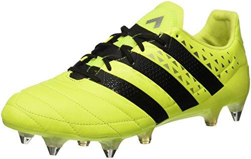 adidas Ace 16.1 Sg, Scarpe da Calcio Uomo Giallo (Solar Yellow/core Black/silver Met,)