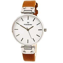 Mock Rock MO1006Wera Silver & Brown Leather Women's Watch