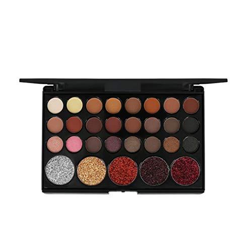 EUYOUZI Eye Shadow Palettes 29 Colors Shimmer Glitter Powder Palette Matte Eyeshadow Cosmetic Makeup 15cmx10cmx1cm (B)