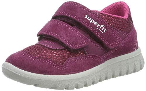 Superfit Baby Mädchen SPORT7 MINI-509191 Sneaker, Rot (Rot/Rosa 50), 24 EU