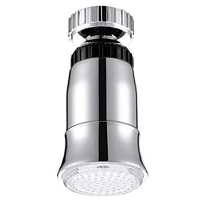 TAN Grifo De Luz LED ABS Sensor De Temperatura De Flujo De Agua RGB 3 Color Resplandor Cabezas De Ducha Baño Grifo Accesorios