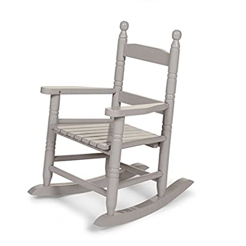 Rocking Chair Enfant en Bois Gris