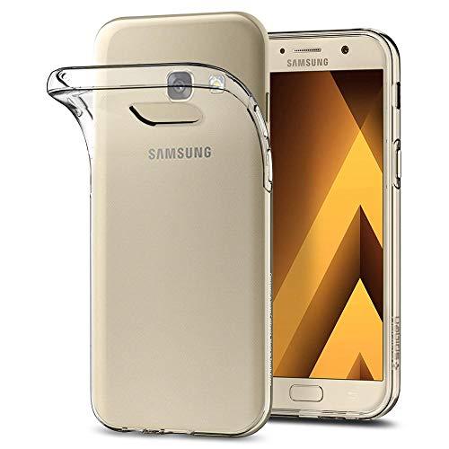 Spigen Liquid Crystal Samsung Galaxy A5 2017 Hülle, Transparent Silikon Handyhülle Passgenau Kratzfest Durchsichtige Schutzhülle Case (Crystal Clear)