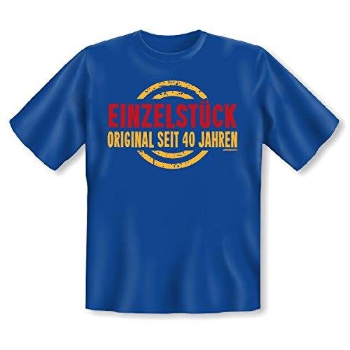 Fun T-Shirt - Einzelstück - Original seit 40 Jahren - Geschenk zum 40. Geburtstag - Gag für die Geburtstagsparty Royal-Blau